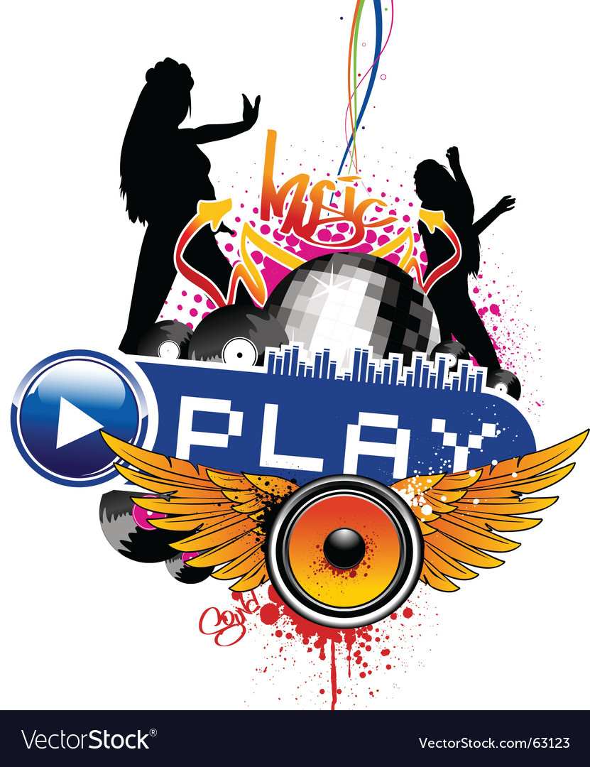 Play vector image