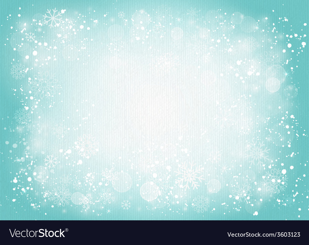 Turquoise canvas background with snowflakes