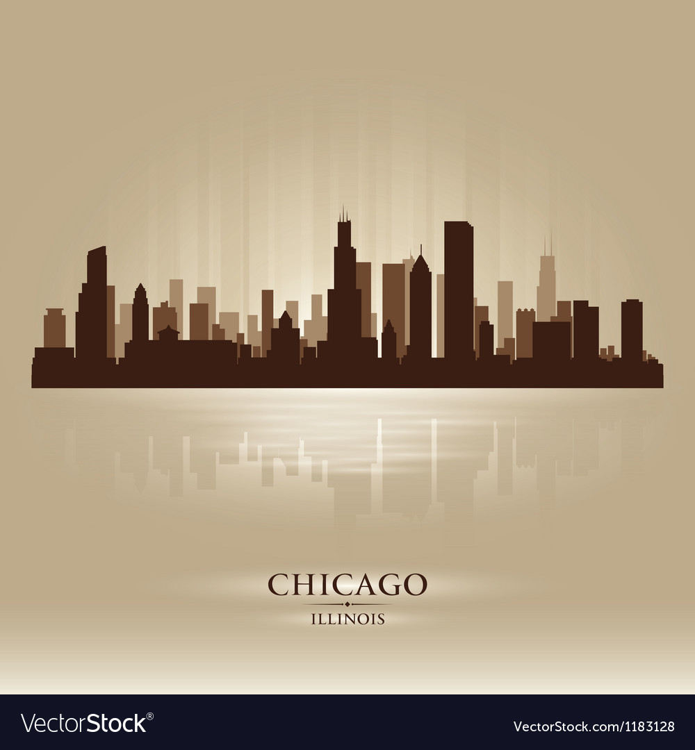 Chicago Illinois skyline city silhouette