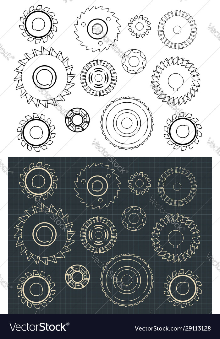 Cutting and milling circles set