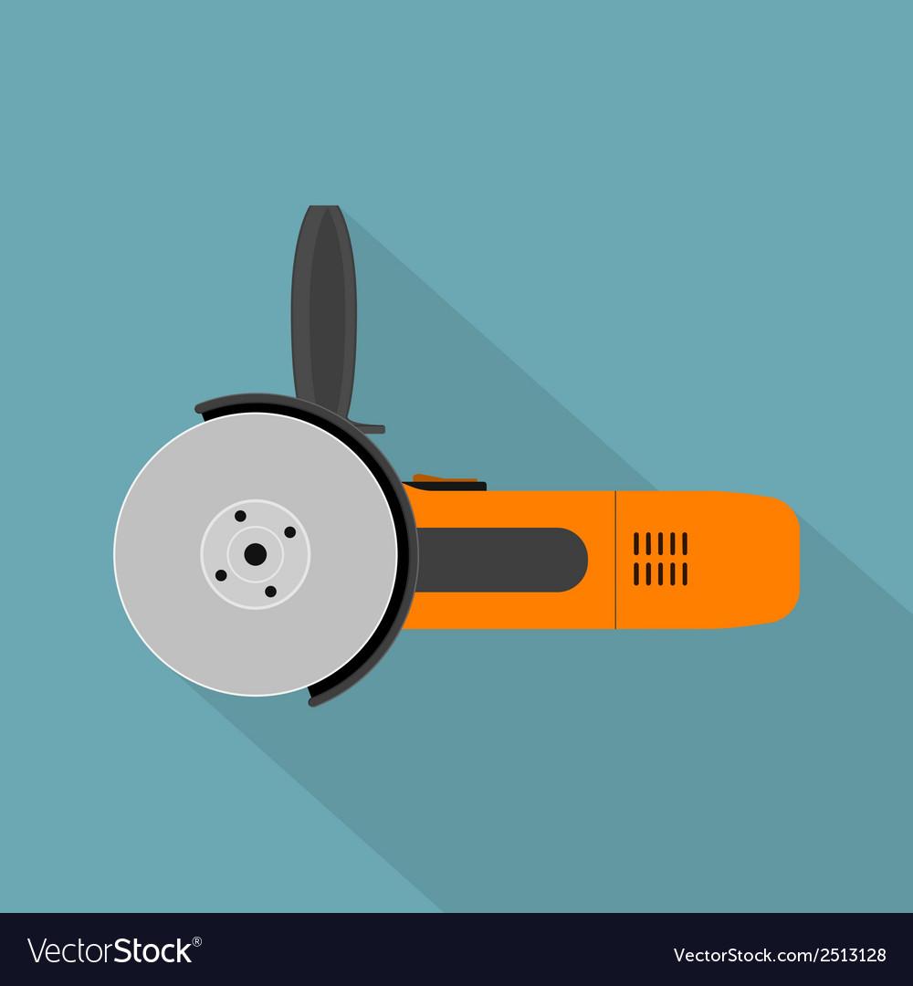 Flat angle grinder