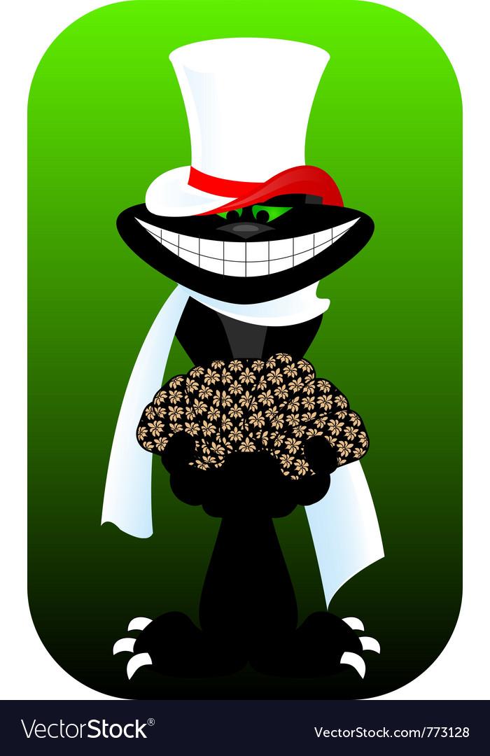 Gambler cat vector image