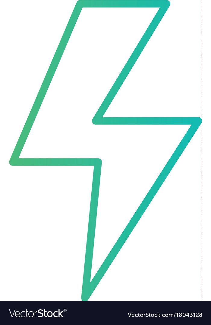 Line energy hazard symbol power electric Vector Image