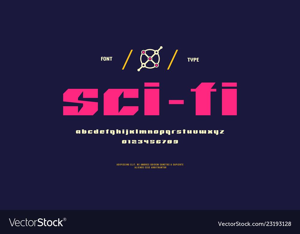 Sans serif font in sci-fi style