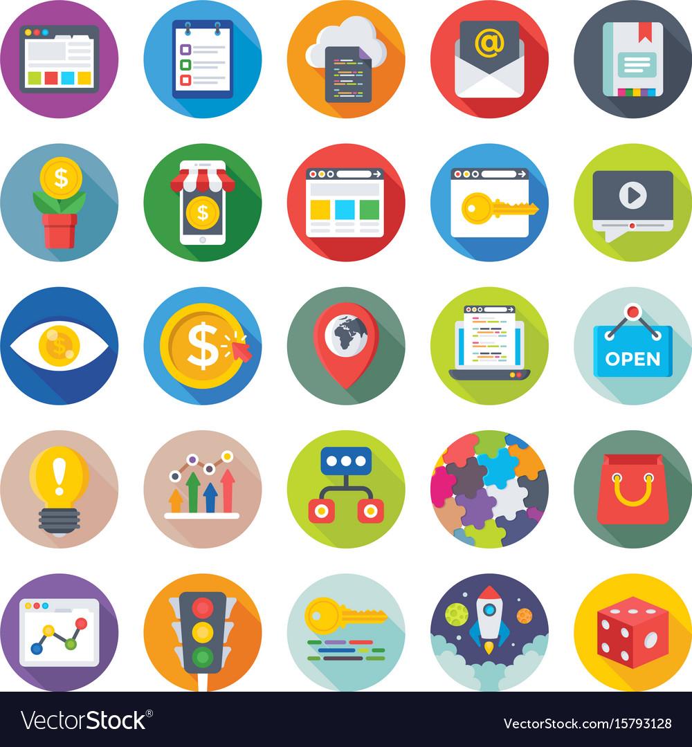 Seo and digital marketing icons 8