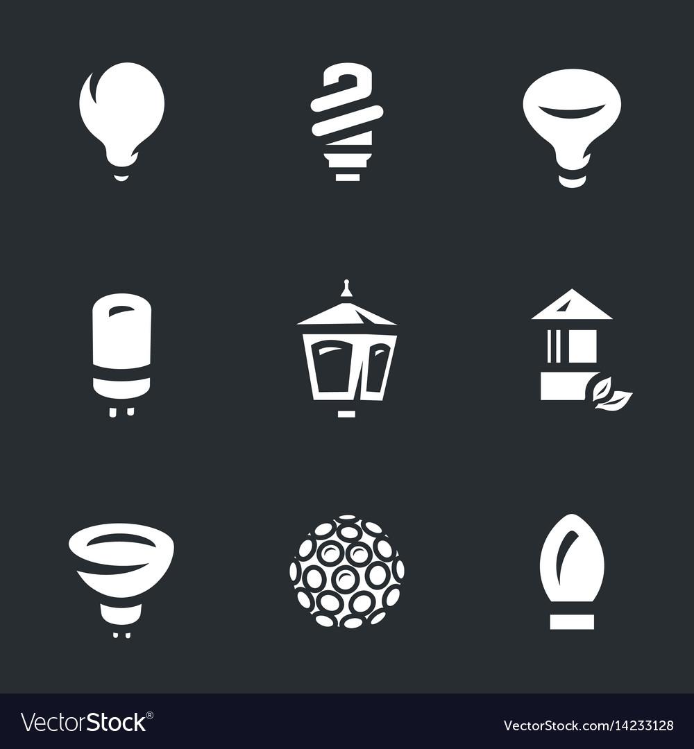 Set of bulbs icons