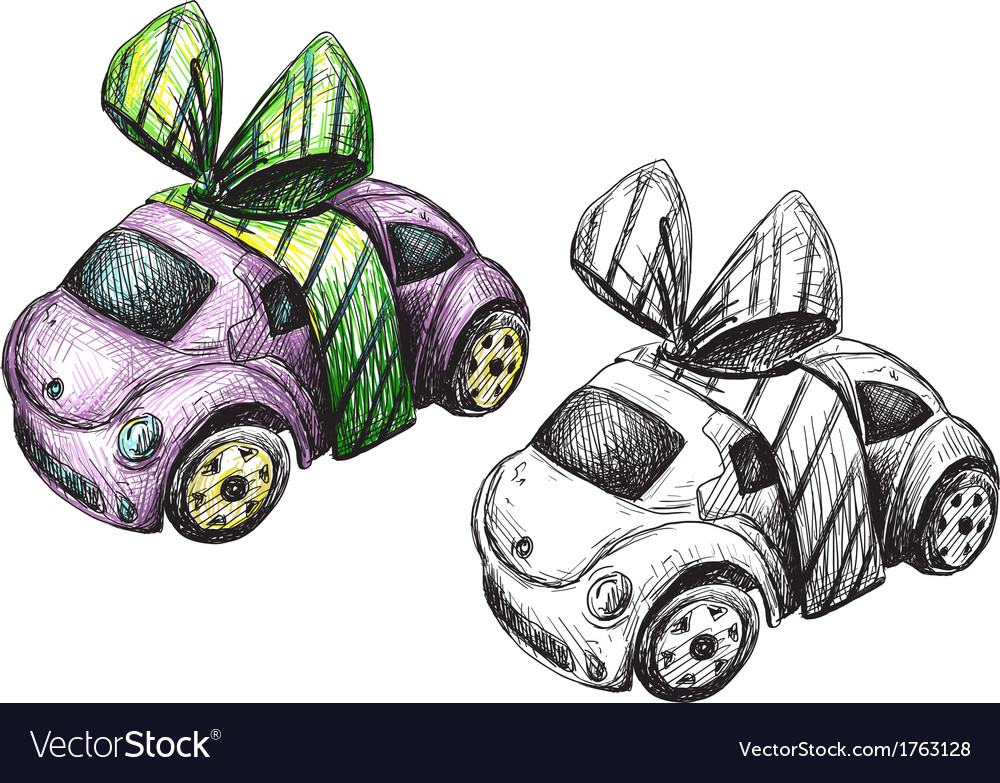 Sketch of a toy car