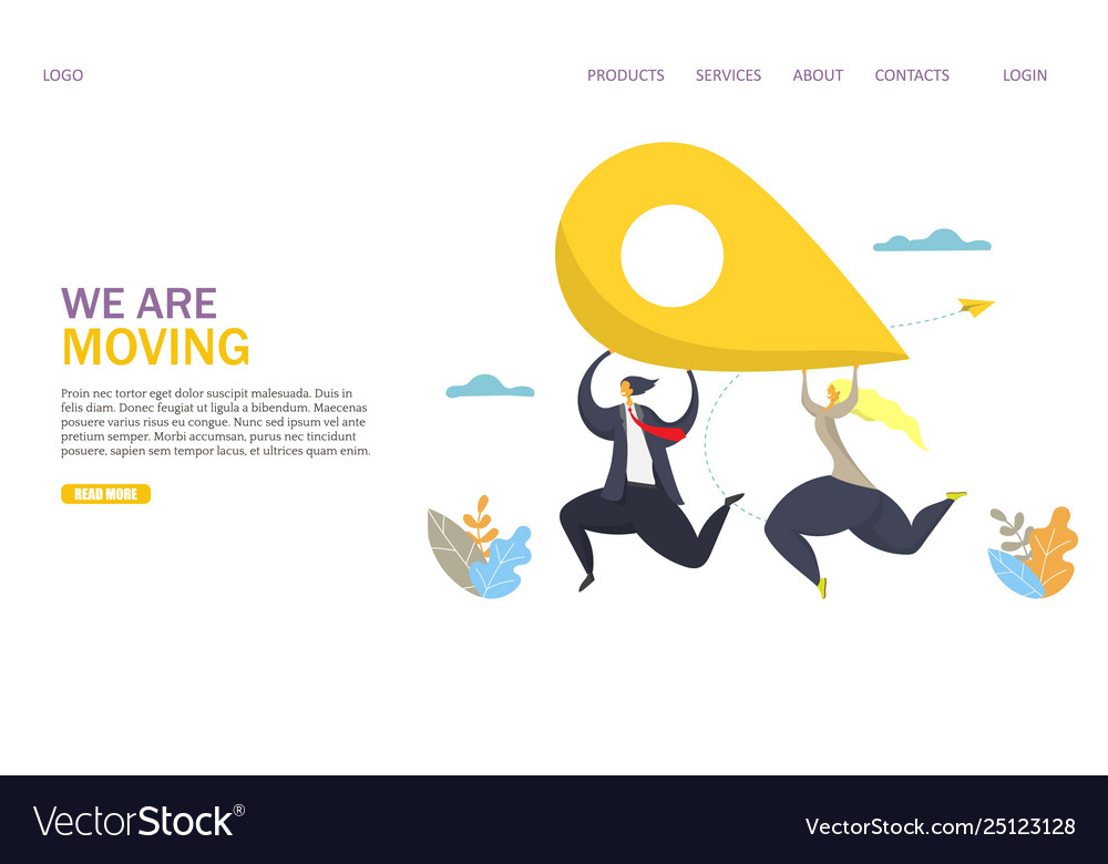 We are moving website landing page design
