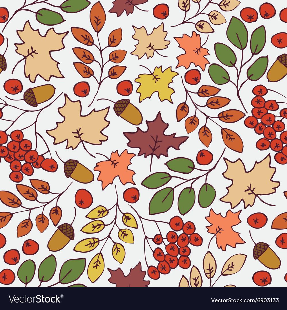 Autumn seamless pattern Maple Leaves