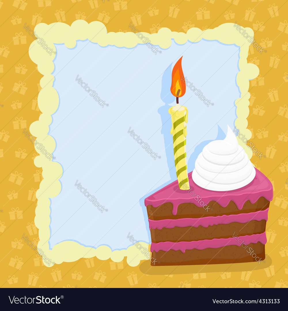 Cartoon Birthday cake card