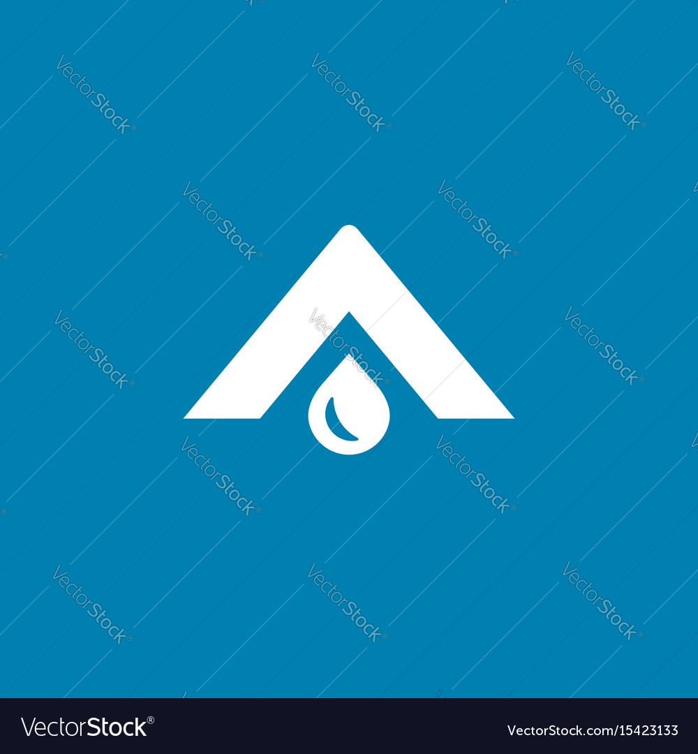 Letter a water drop logo icon design template
