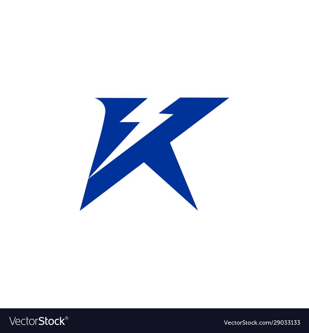 Letter k electric logo icon design template