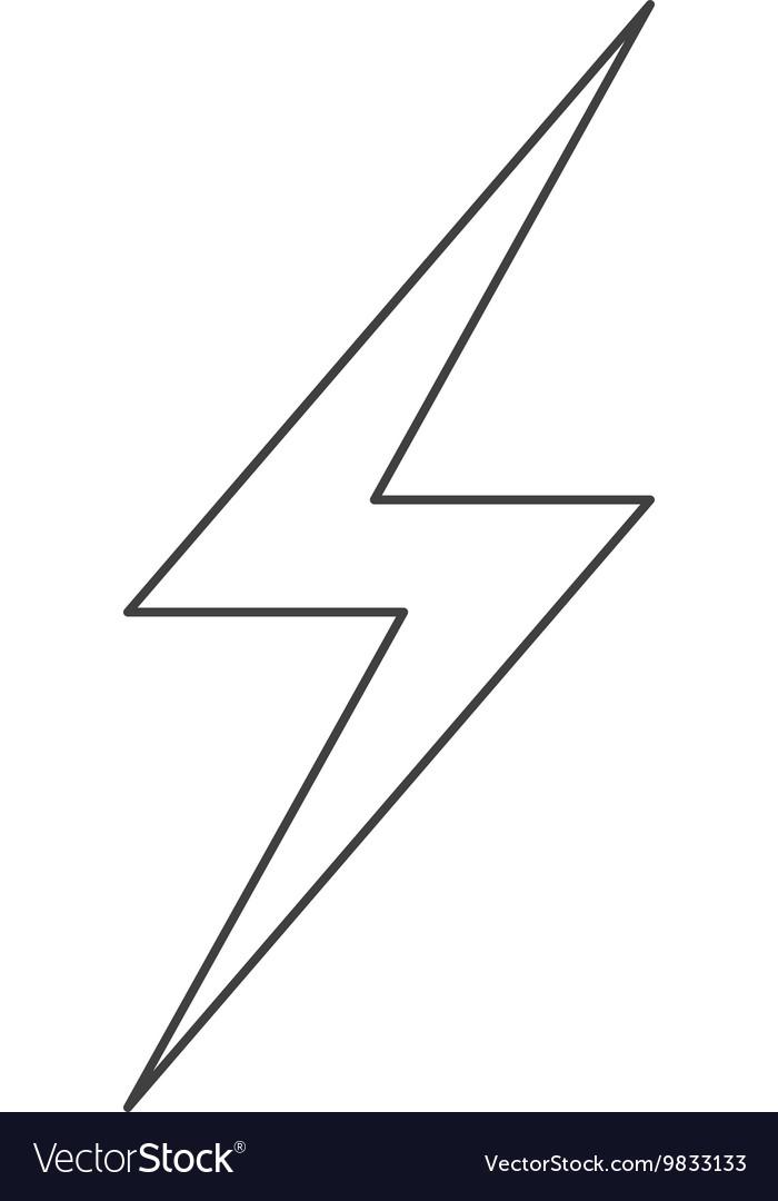 Lightning ray icon vector image
