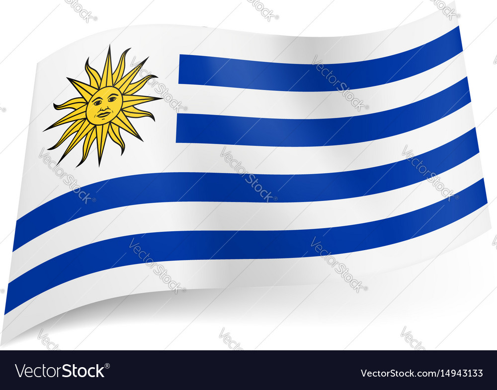 National flag of uruguay white and blue