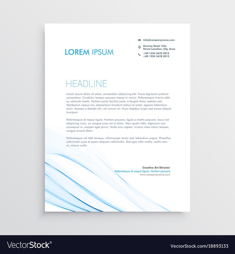 simple creative letterhead template design vector image