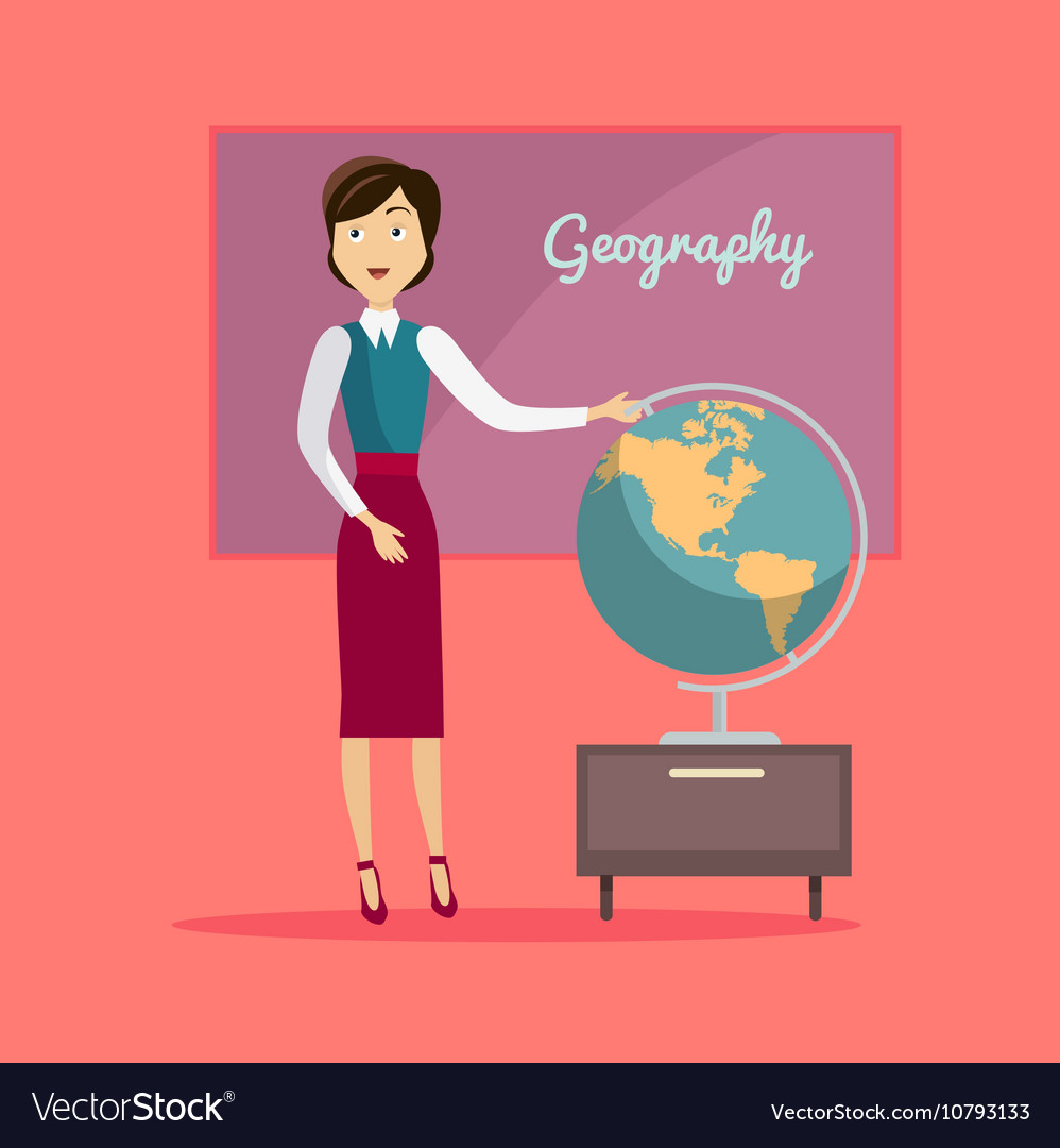 Subject of Geography Education Conceptual Banner