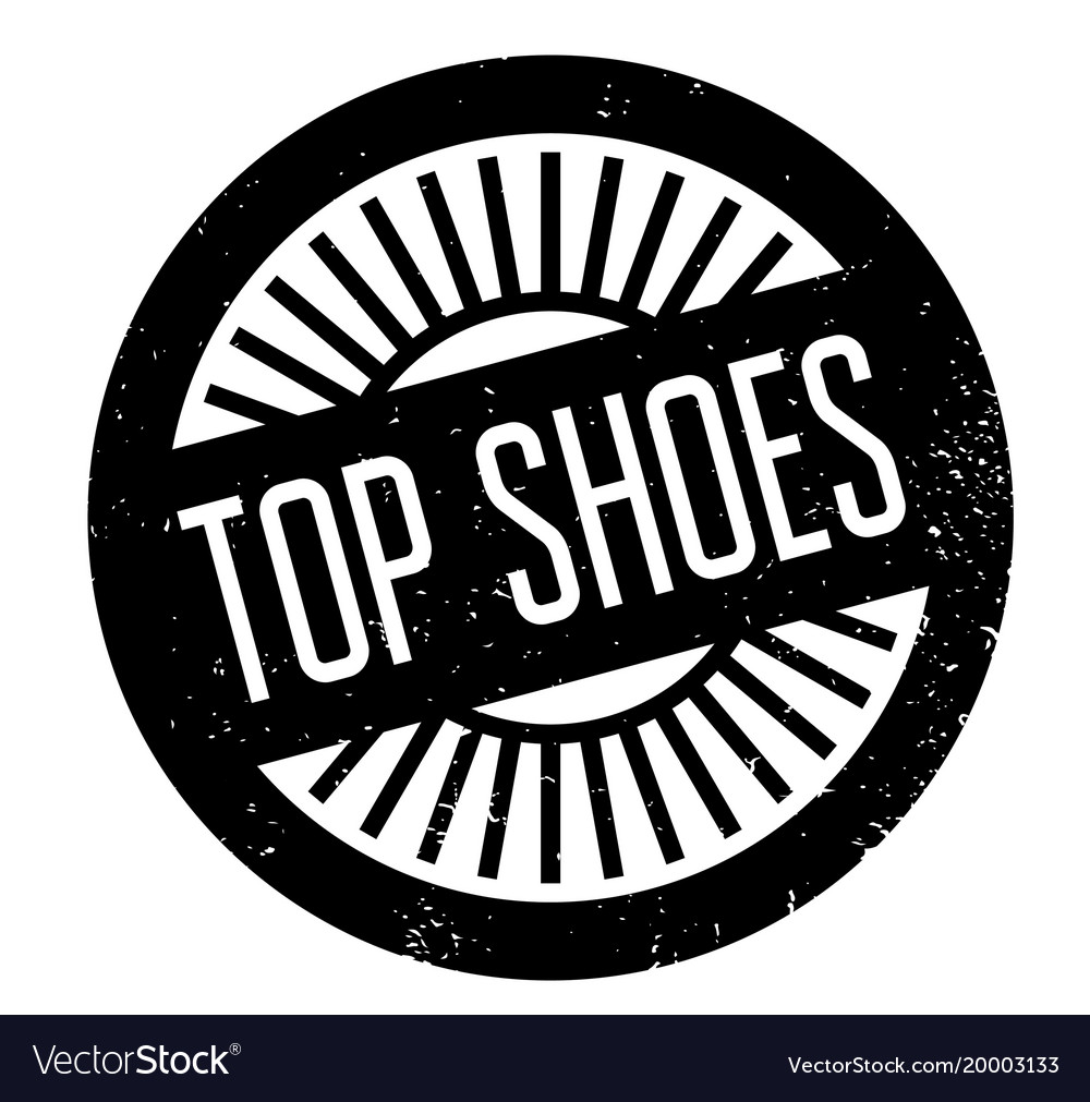 Top shoes rubber stamp