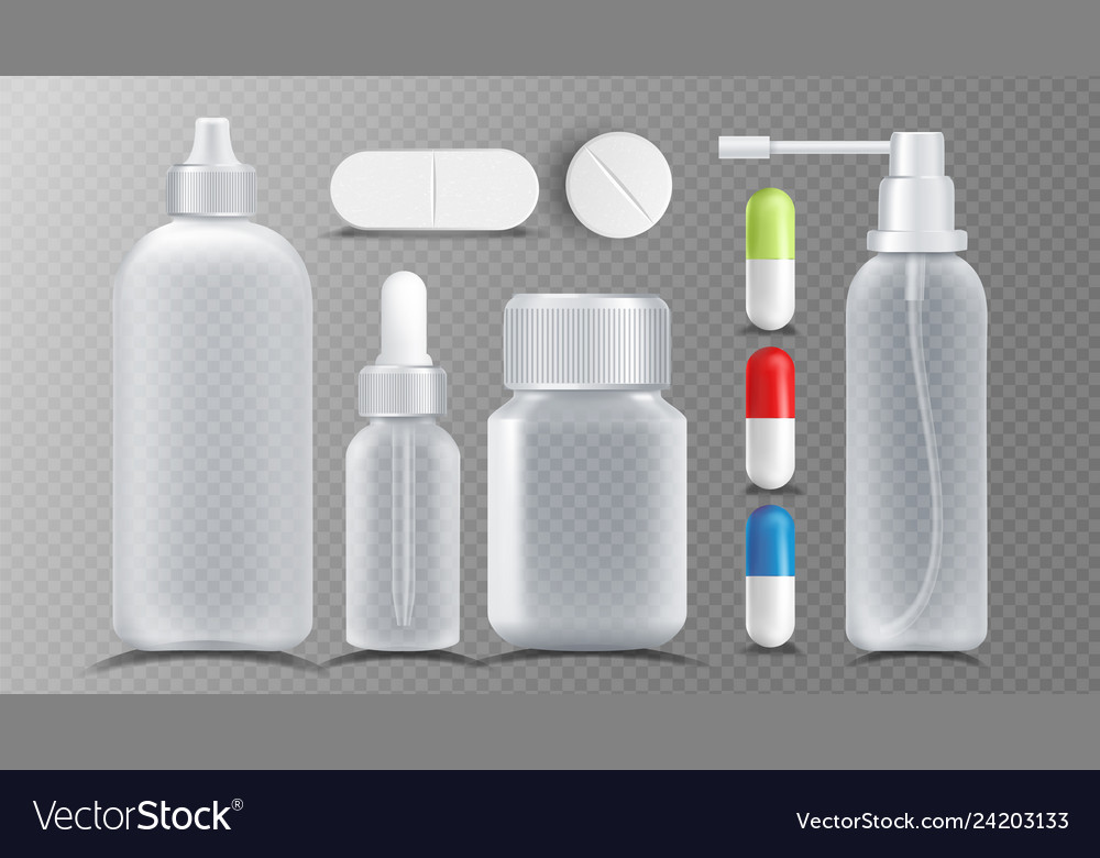 Transparent medical container jar for