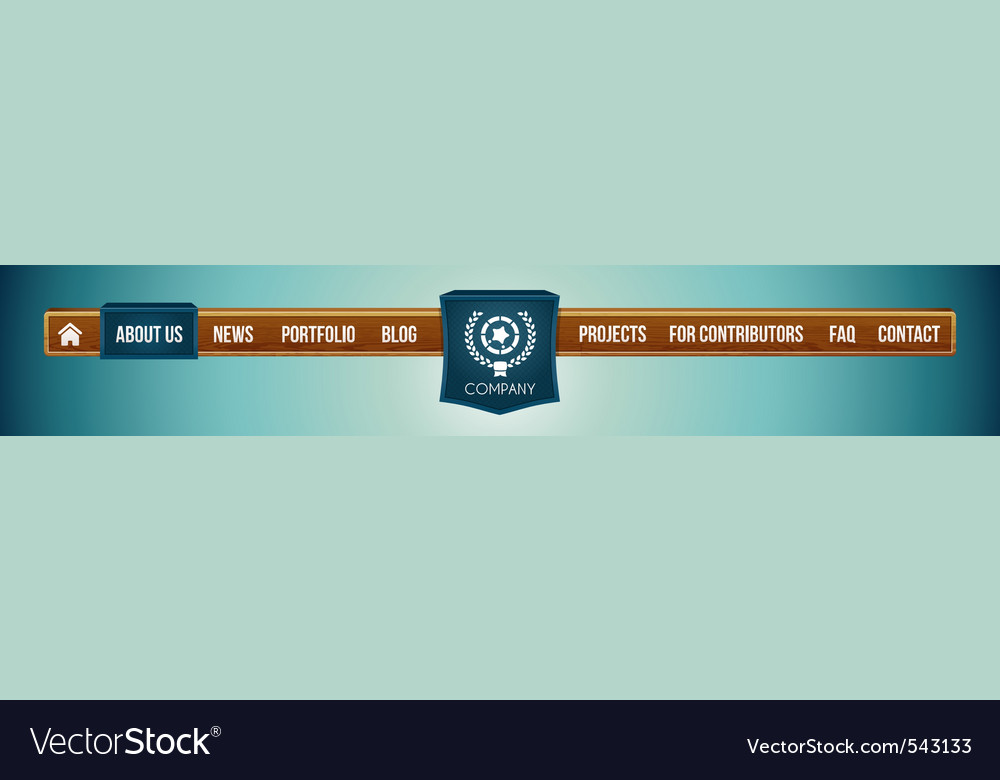 Website menu bar vector image