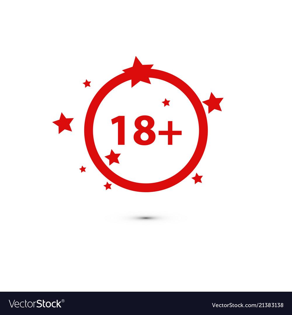 18 age warning stamp flat