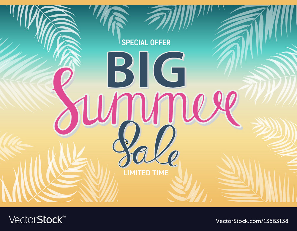 Big summer sale abstract background