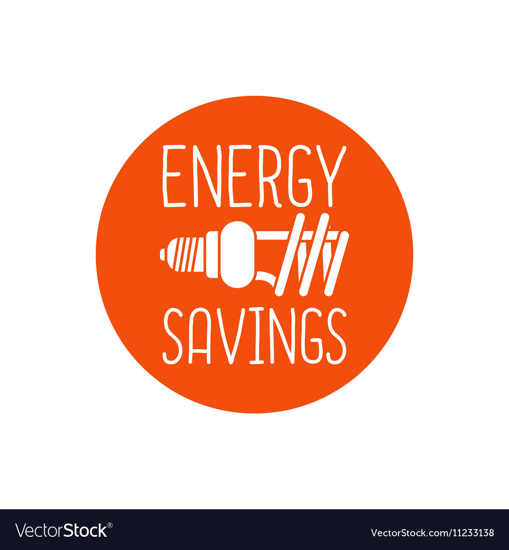 Energy savings logo design