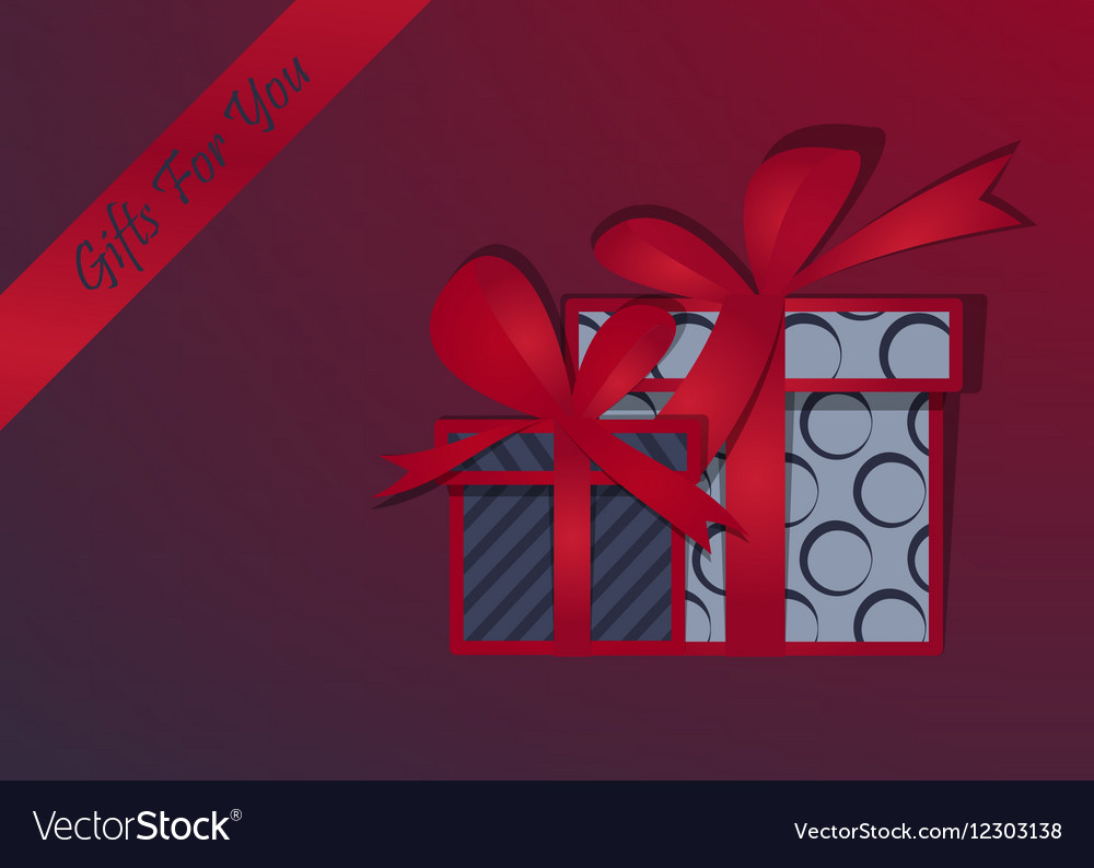 Gifts background Happy Christmas Box with a