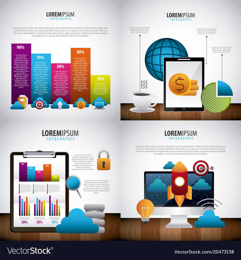 Infographic statistics analysis