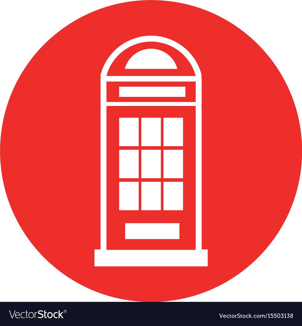 London phone cab isolated icon
