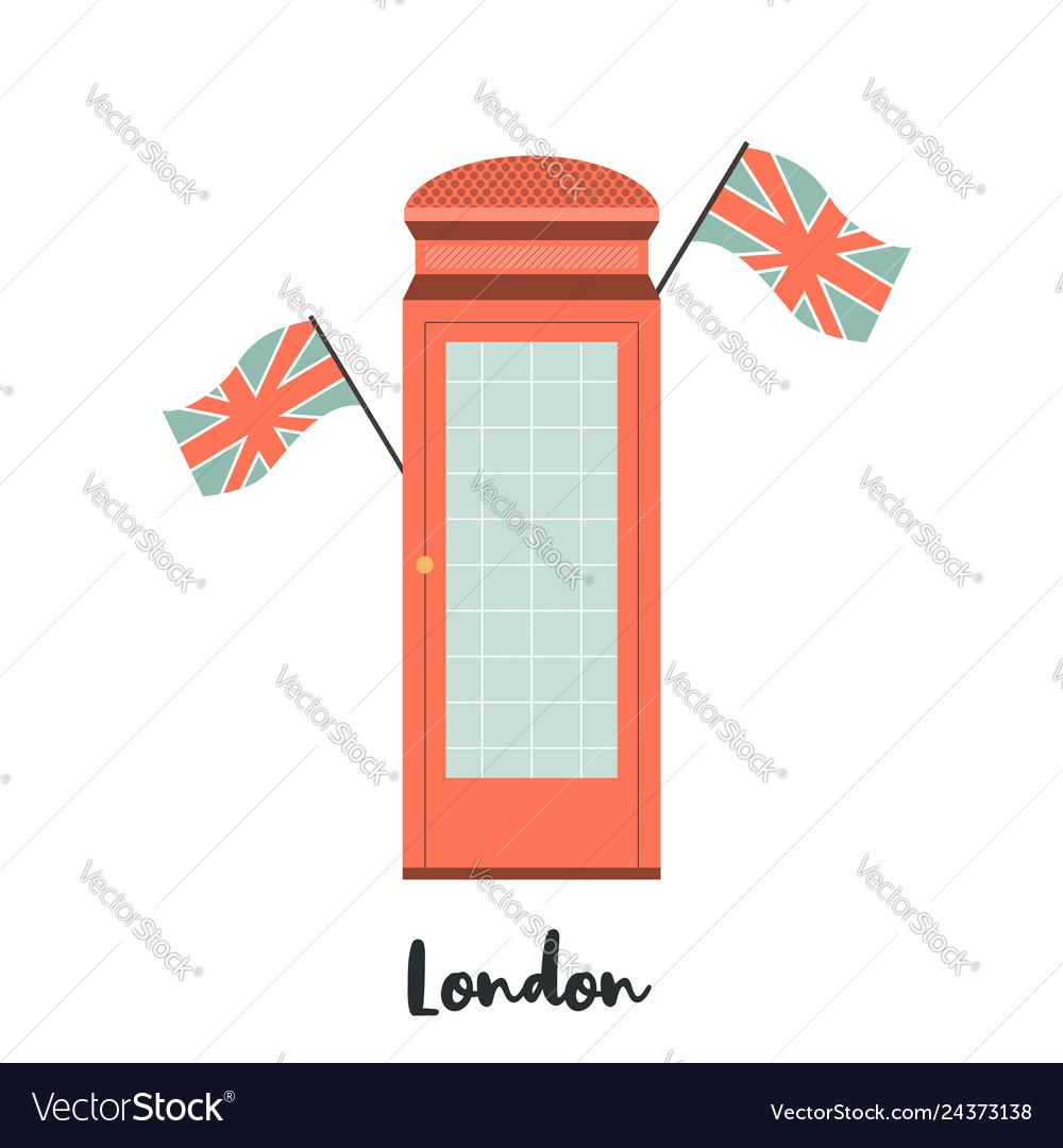 Red telephone box london famous attraction