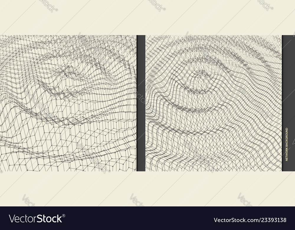 Rippled background template abstract science 3d