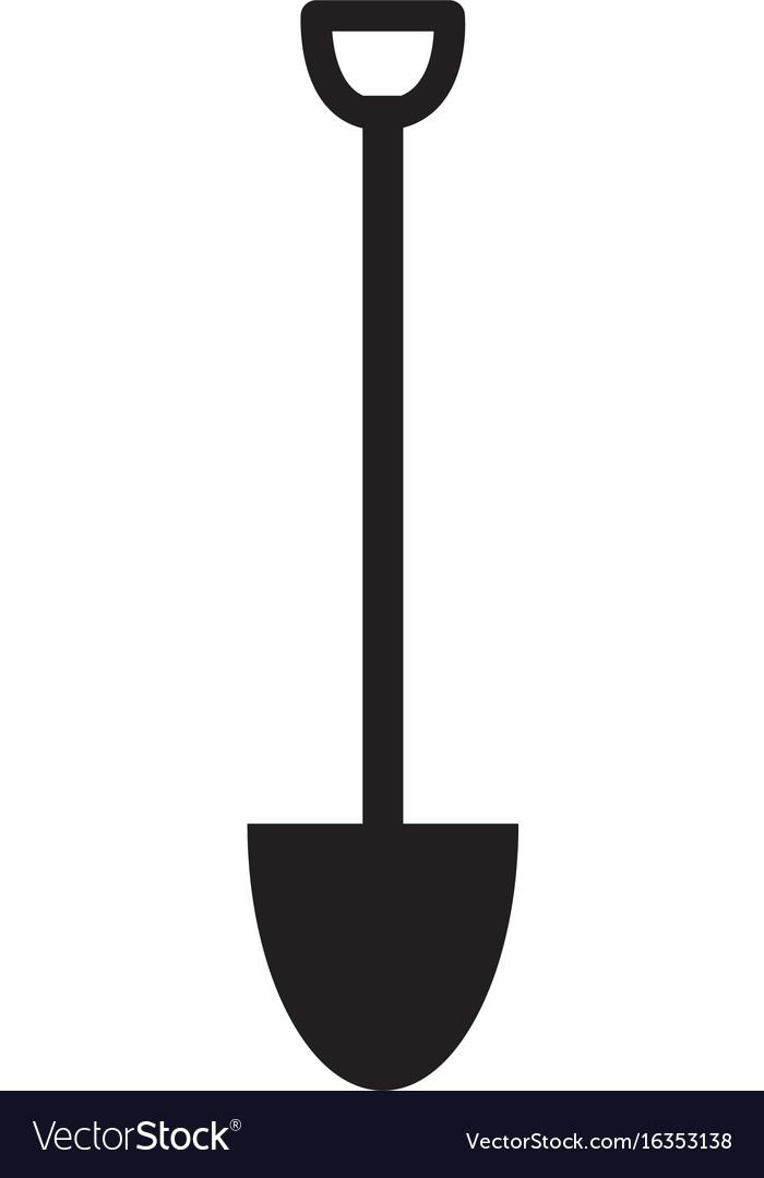 Shovel icon on white background flat style vector image