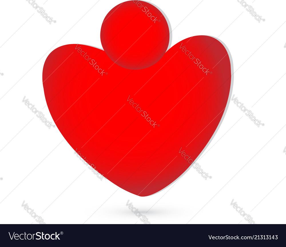 Abstract heart figure logo symbol