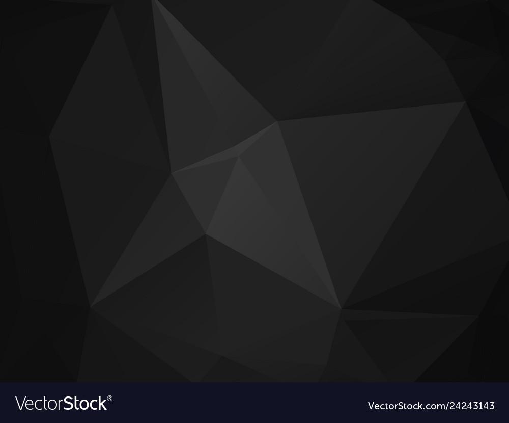 Abstract polygonal background dark gray black
