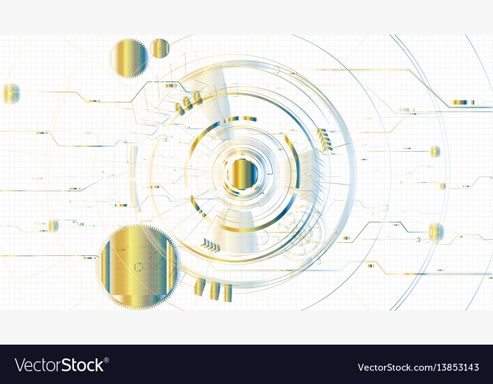 Abstract technological illuminated sketch