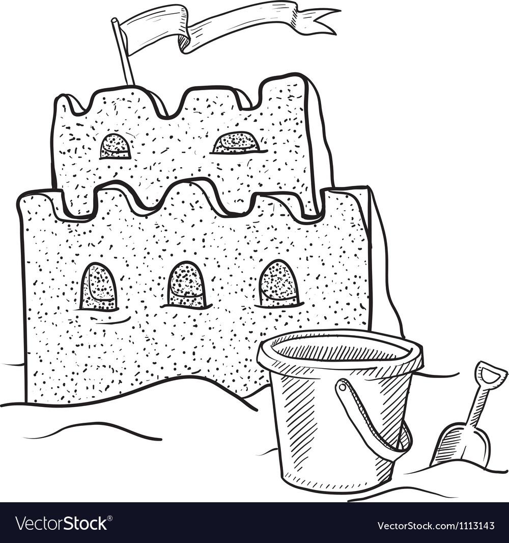 Doodle sand castle terrible
