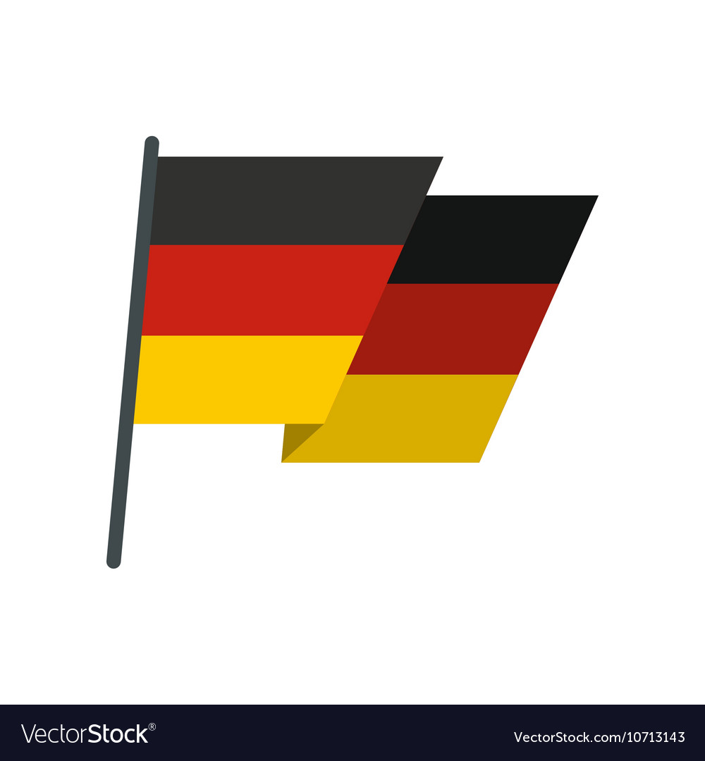 Flag of Germany icon flat style