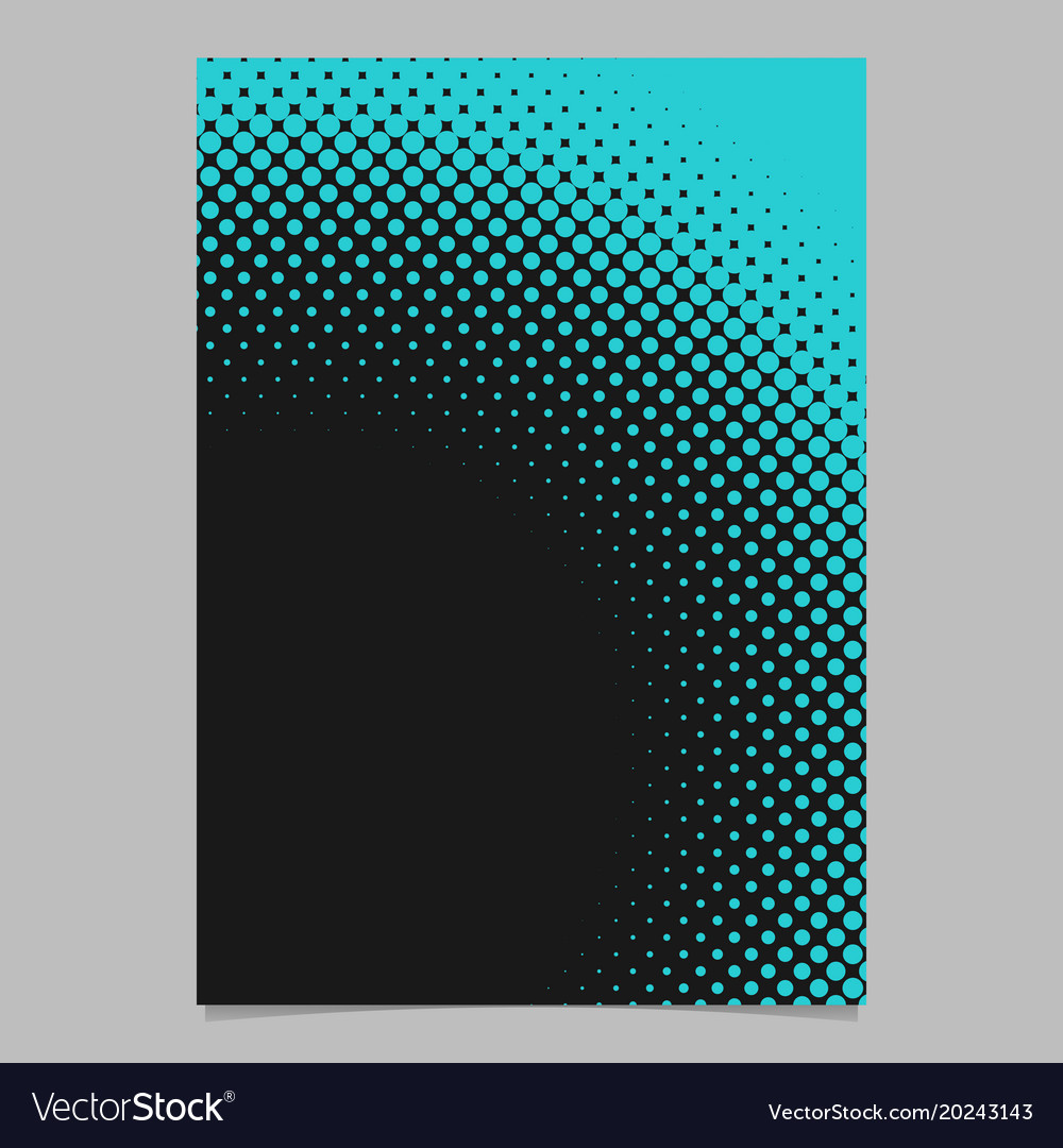 Geometric abstract halftone dot pattern flyer