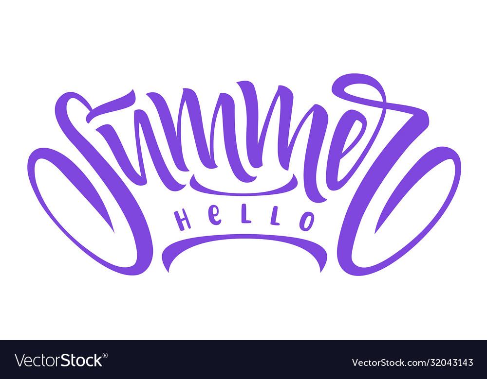 Hello summer hand drawn