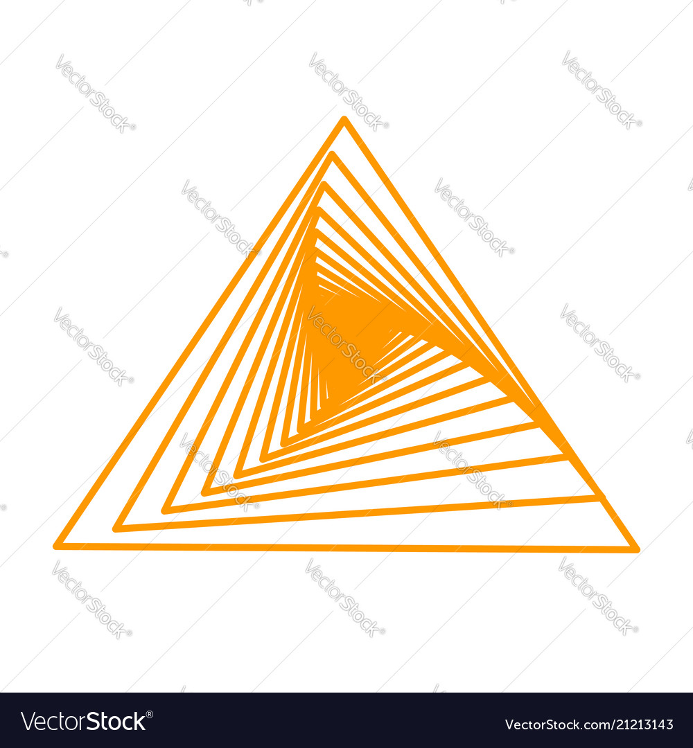 Spirals triangle vector image