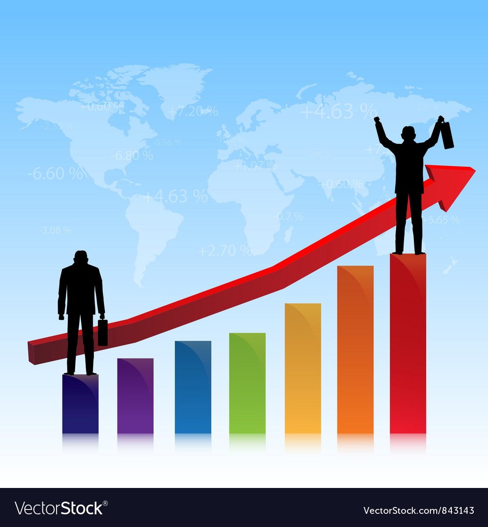Successful of stock market vector image