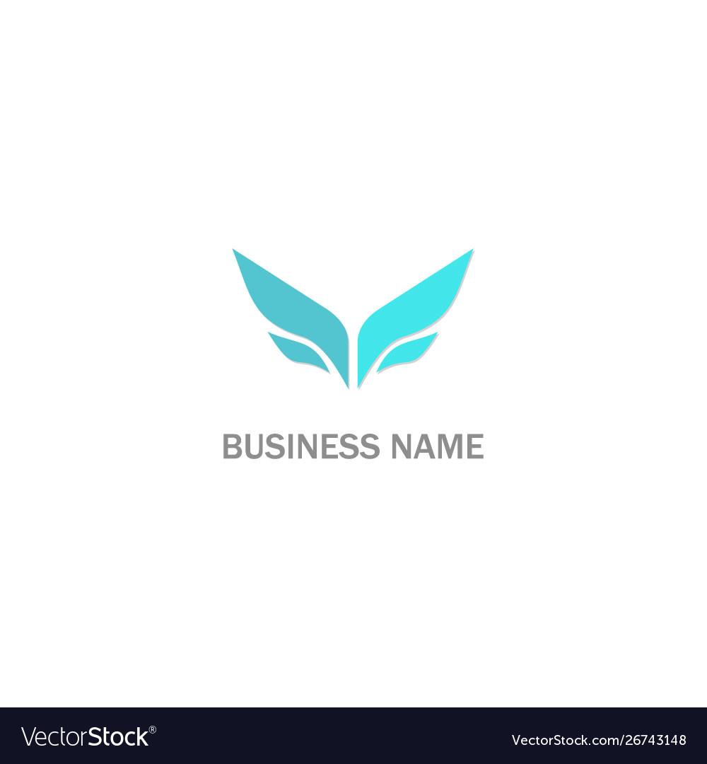 Abstract wing company logo