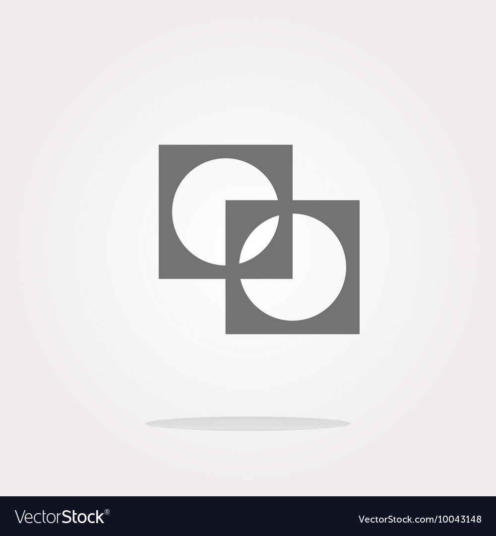 Apps icon abstract sign on web button isolated on