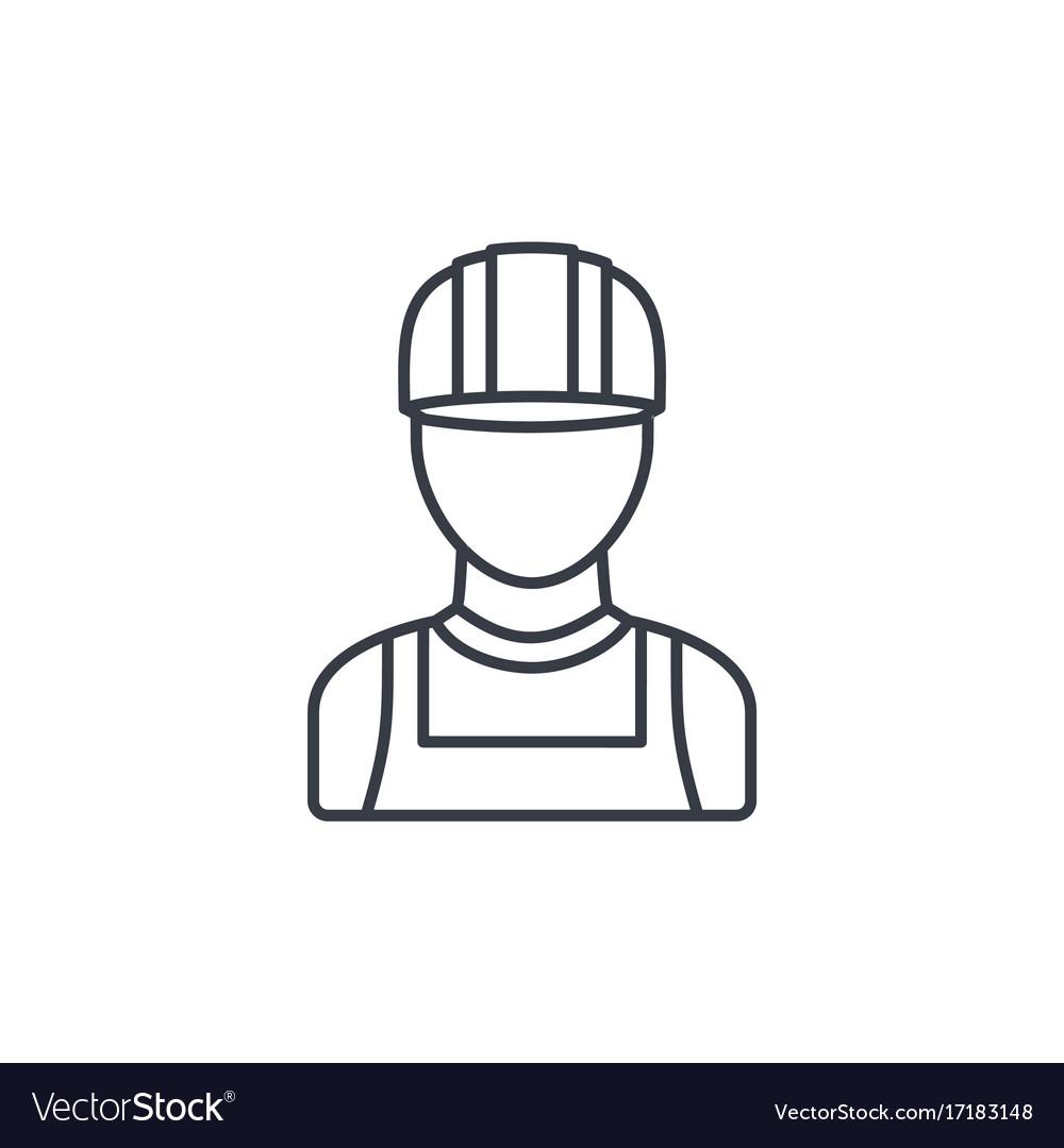 Avatar builder iin hemlet thin line icon linear