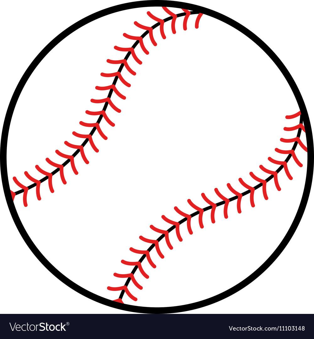 Baseball Cartoon Design Royalty Free Vector Image
