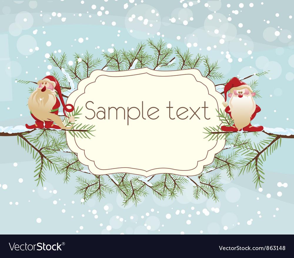 Christmas greeting card royalty free vector image christmas greeting card vector image m4hsunfo
