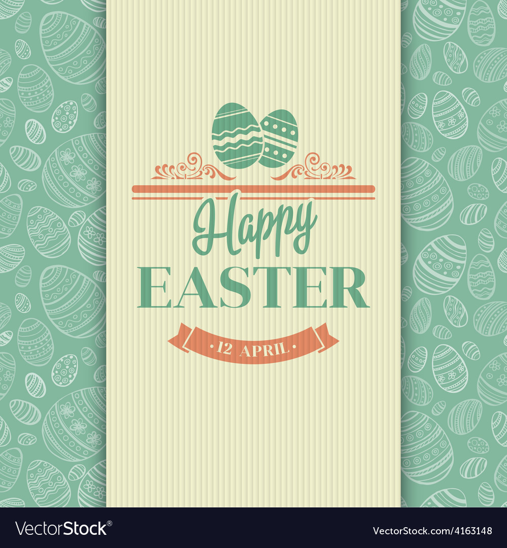 Easter greeting card Holiday typography vector image