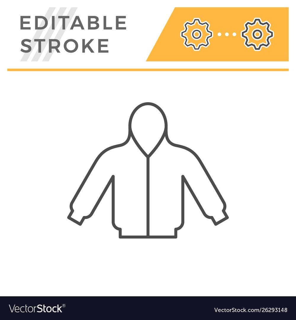 Hoodie editable stroke line icon