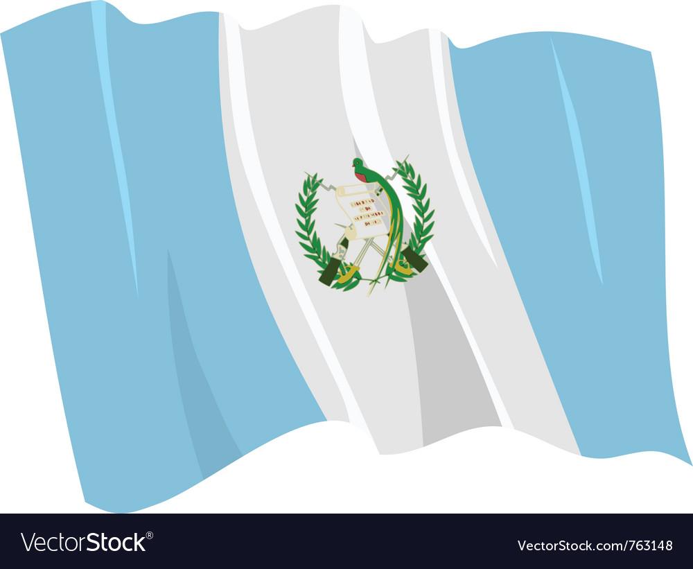 Political waving flag of guatemala