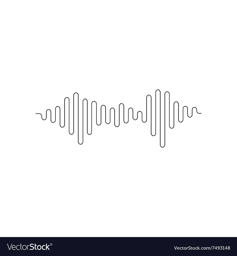 sound or audio wave royalty free vector image vectorstock rh vectorstock com sound wave vector generator sound wave vector images